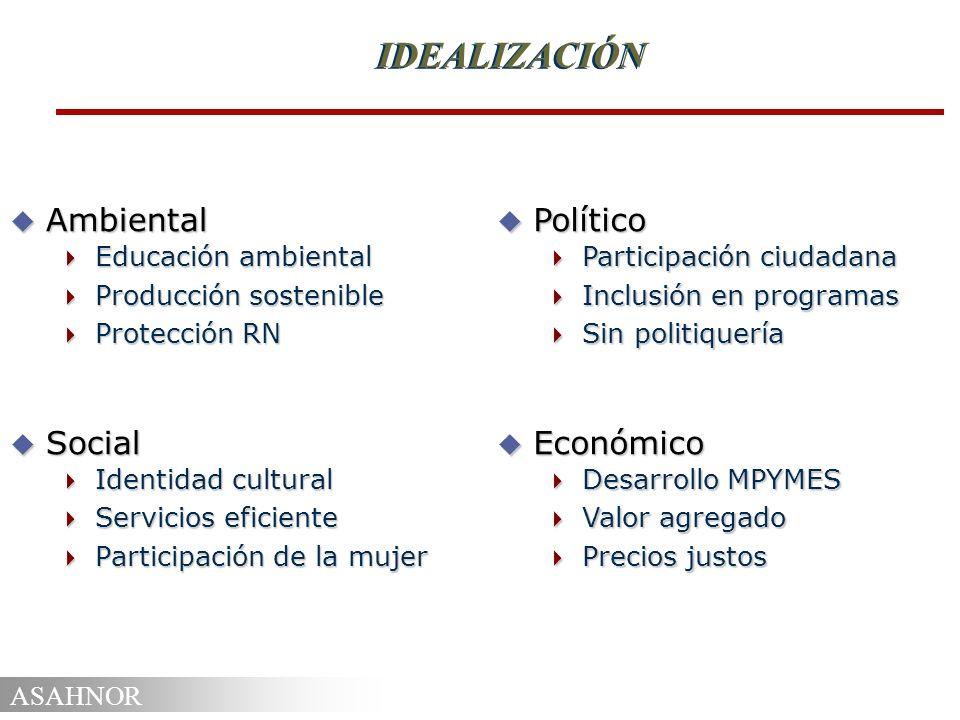 IDEALIZACIÓN Ambiental Social Político Económico Educación ambiental