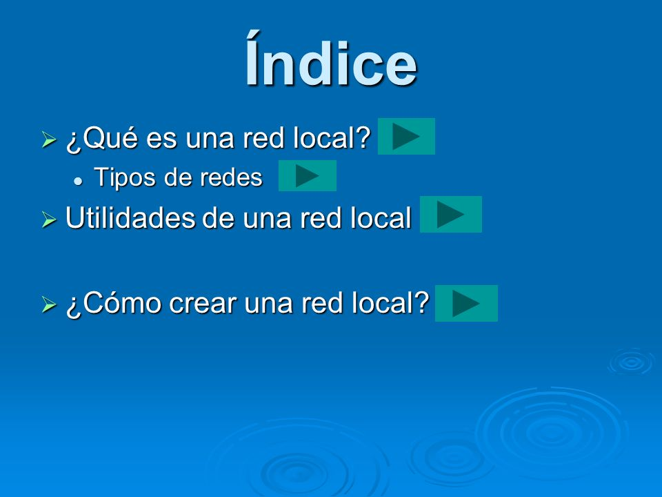 Índice ¿Qué es una red local Utilidades de una red local