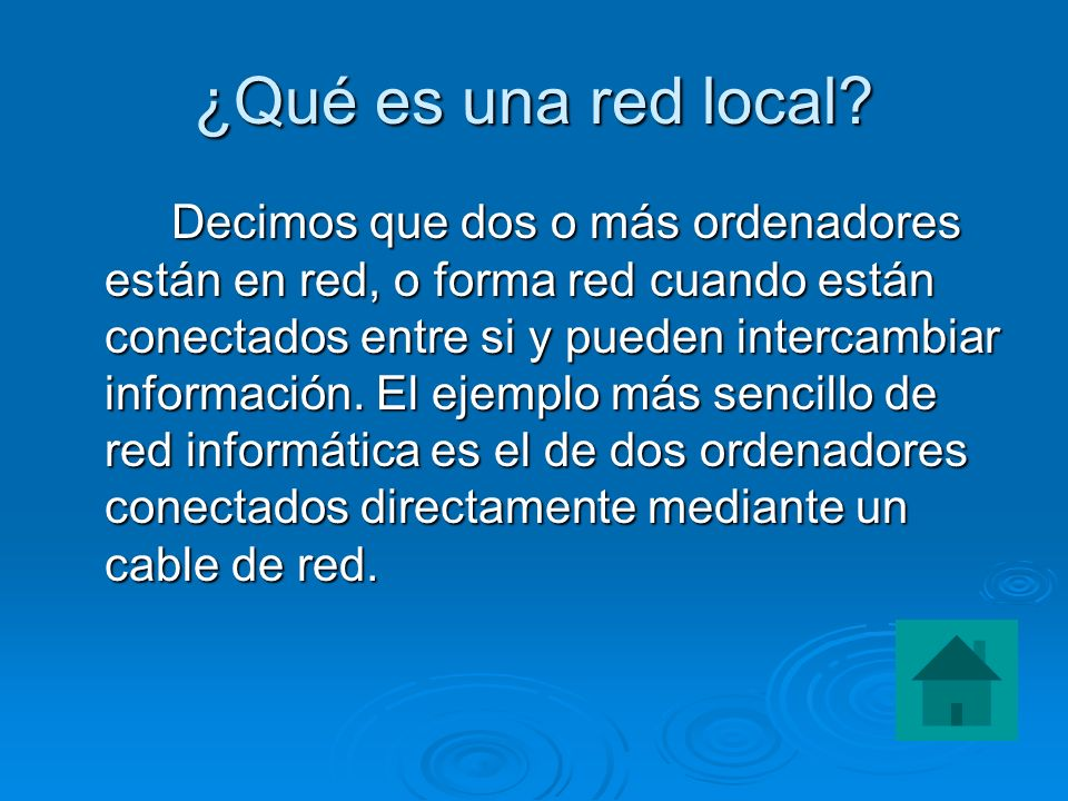¿Qué es una red local