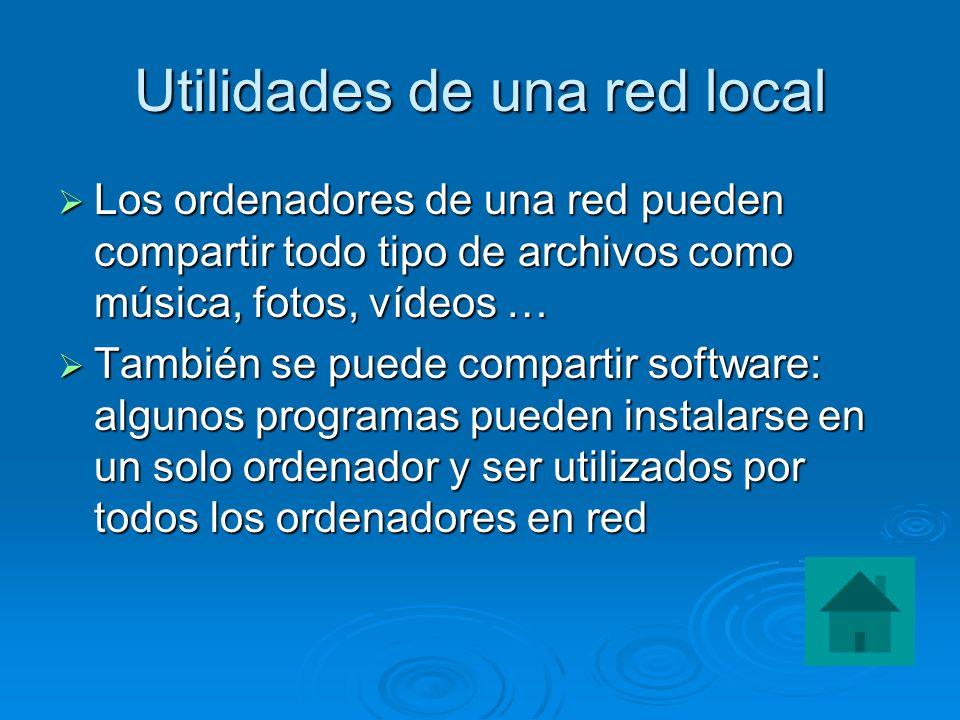 Utilidades de una red local