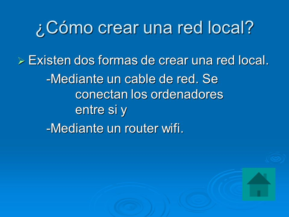 ¿Cómo crear una red local