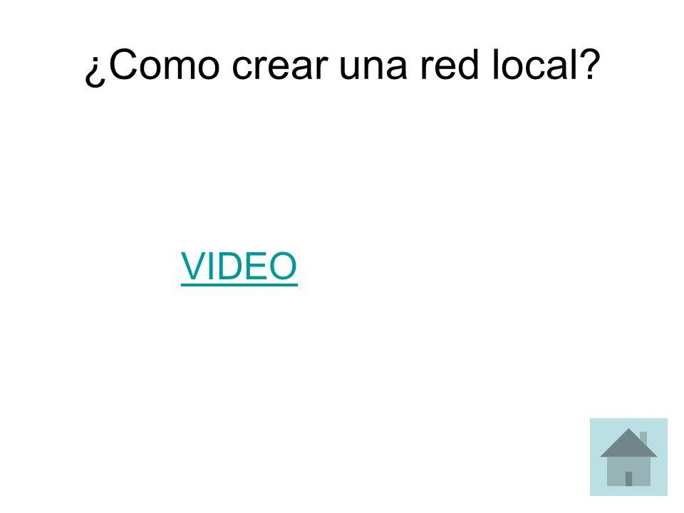 ¿Como crear una red local