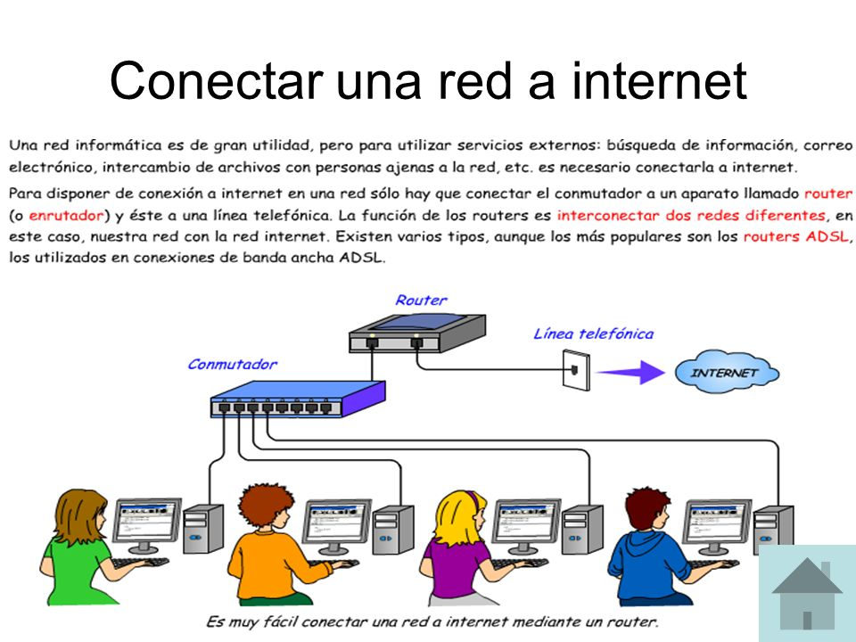 Conectar una red a internet
