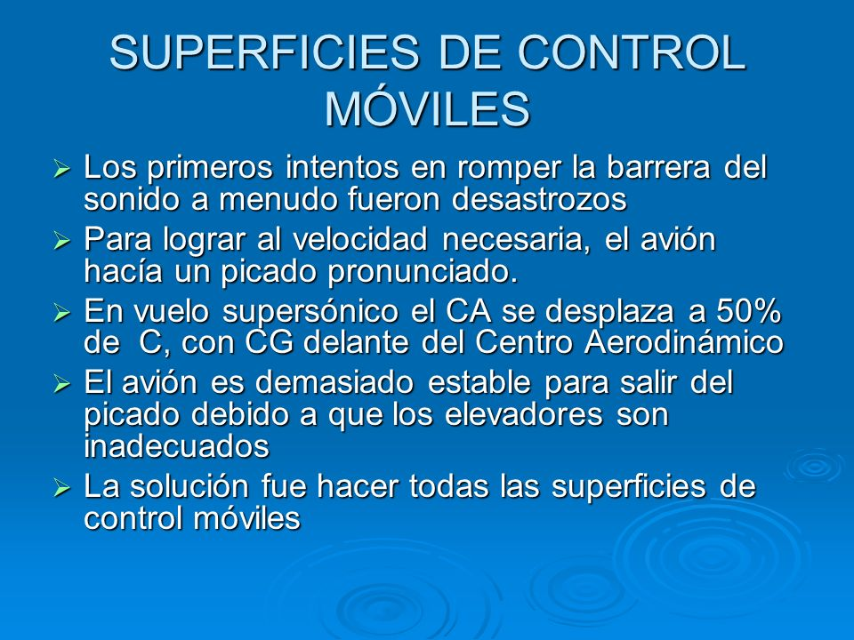 SUPERFICIES DE CONTROL MÓVILES