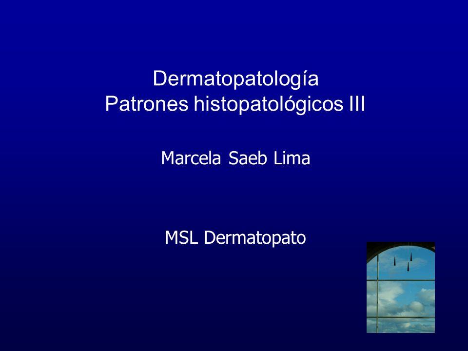 Dermatopatología Patrones histopatológicos III