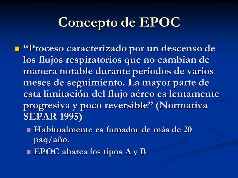 Concepto de EPOC