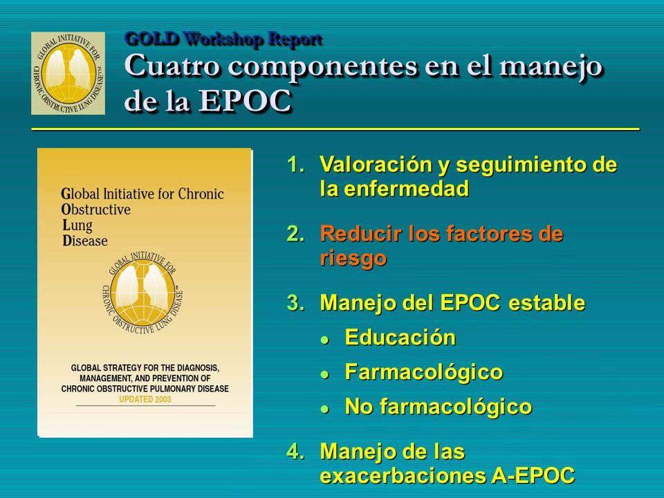 GOLD Workshop Report Cuatro componentes en el manejo de la EPOC