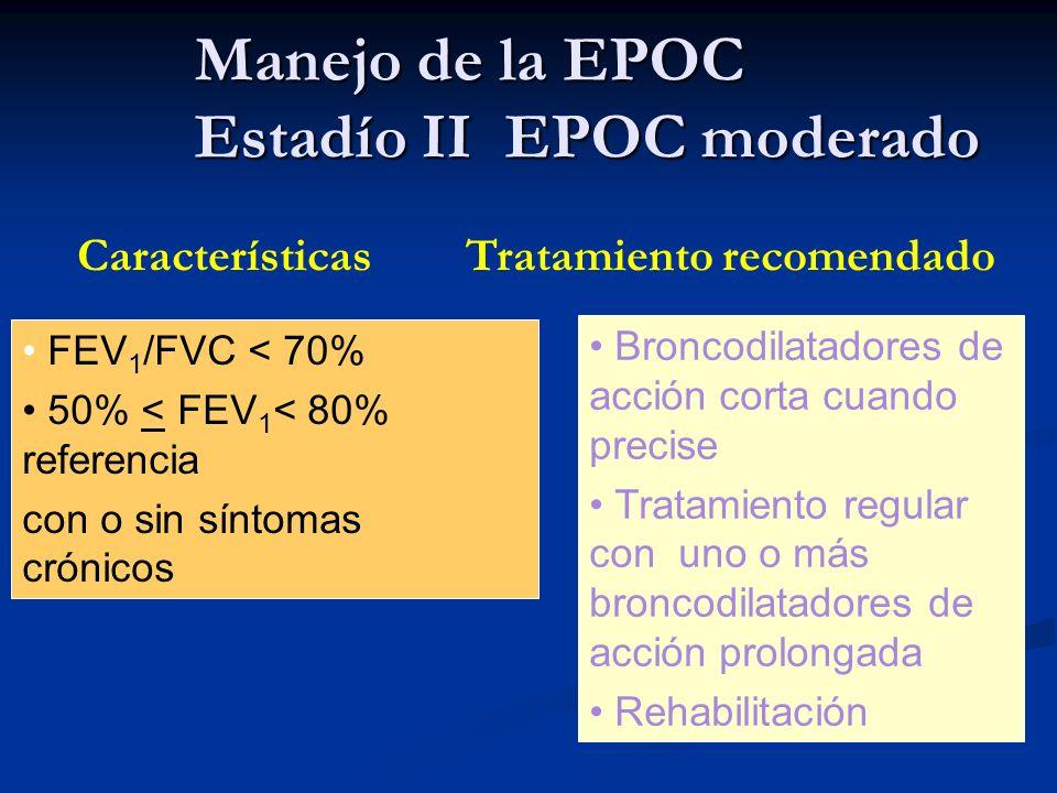 Manejo de la EPOC Estadío II EPOC moderado