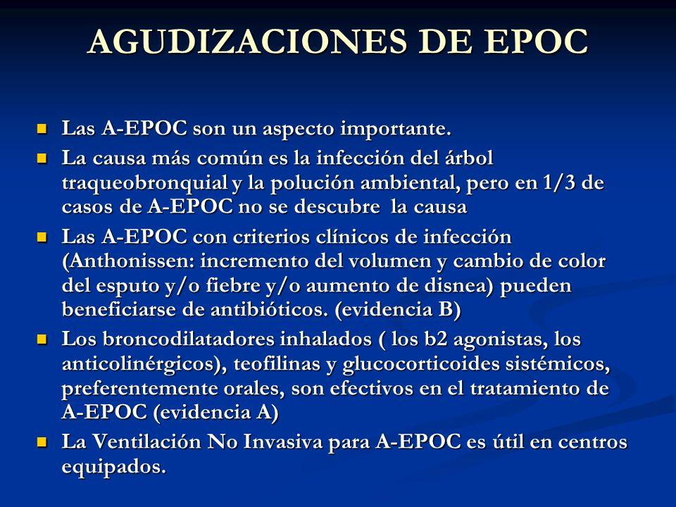 AGUDIZACIONES DE EPOC Las A-EPOC son un aspecto importante.