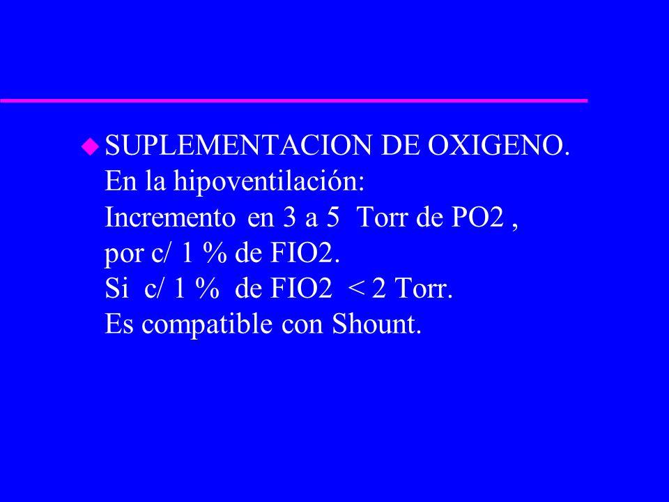 SUPLEMENTACION DE OXIGENO
