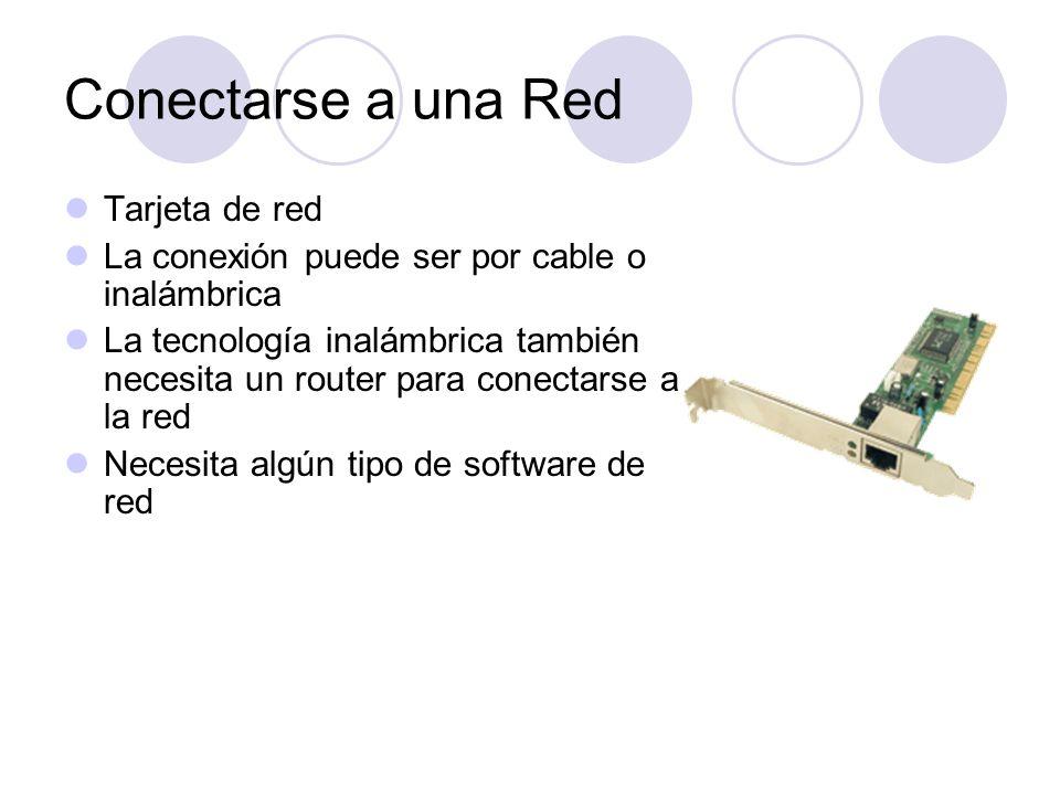 Conectarse a una Red Tarjeta de red
