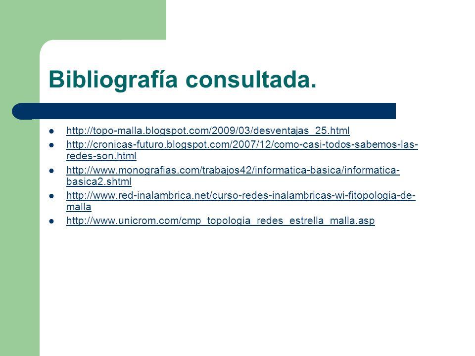 Bibliografía consultada.