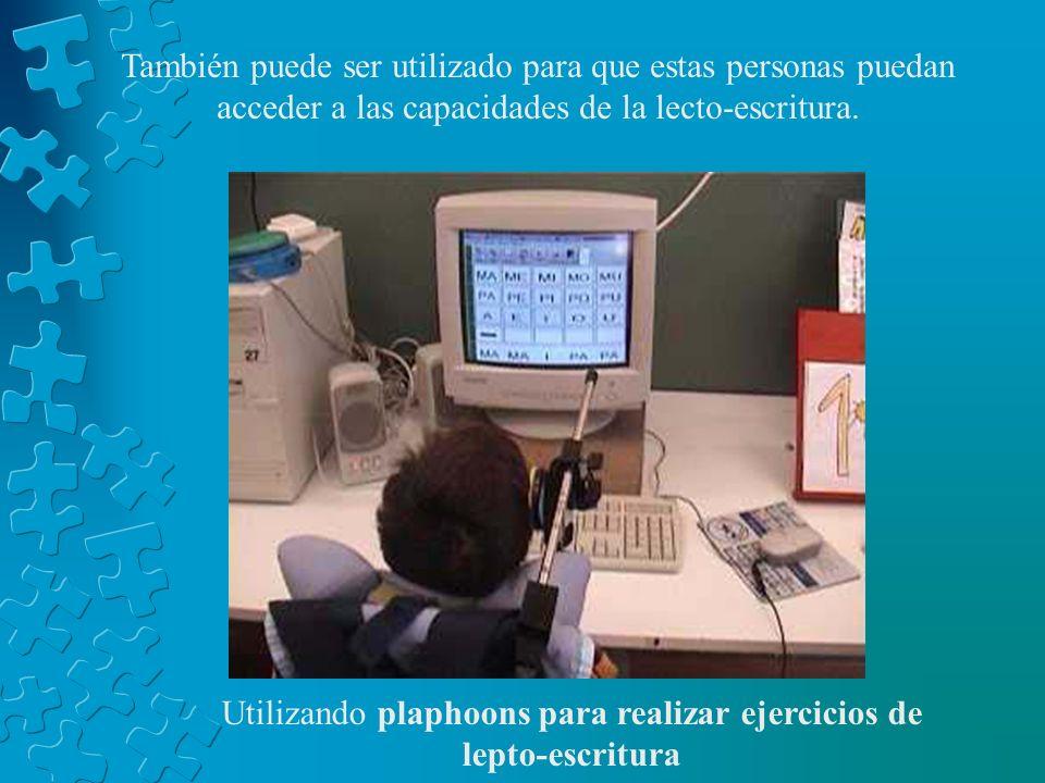 Utilizando plaphoons para realizar ejercicios de lepto-escritura