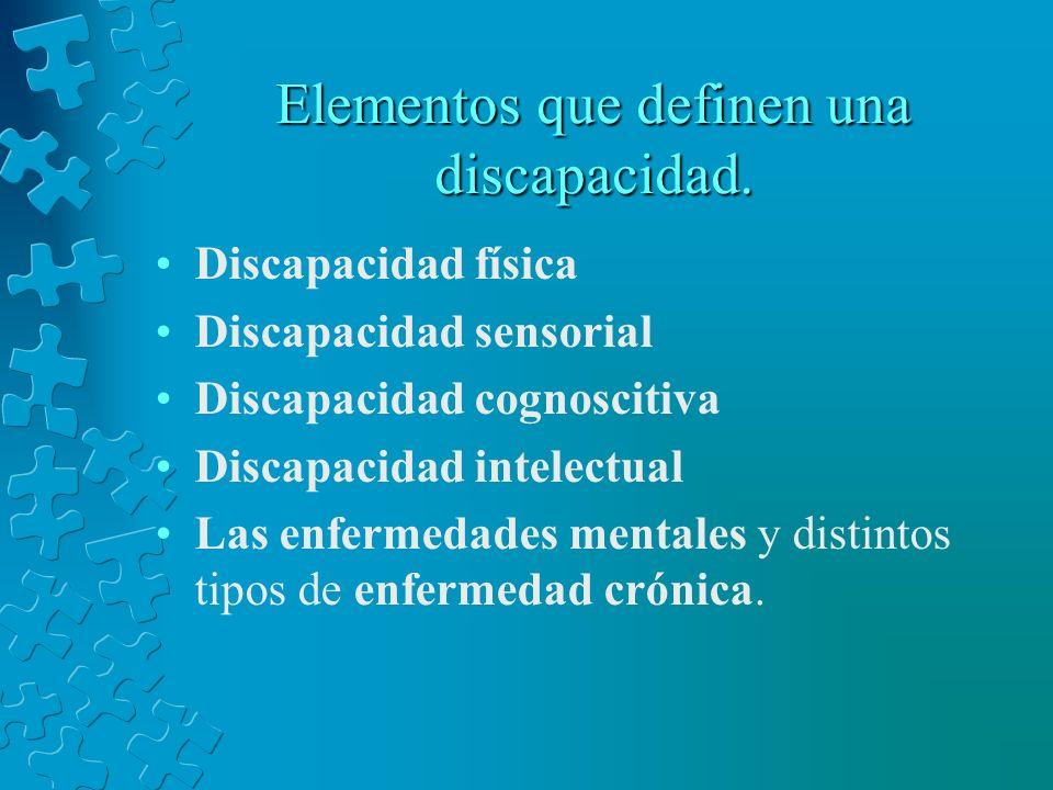 Elementos que definen una discapacidad.