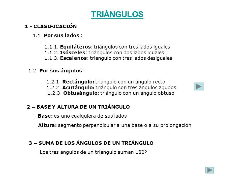 TRIÁNGULOS 1 - CLASIFICACIÓN 1.1 Por sus lados :