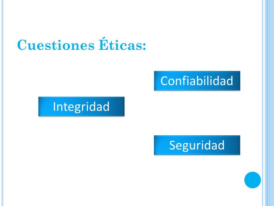 Cuestiones Éticas: Confiabilidad Integridad Seguridad