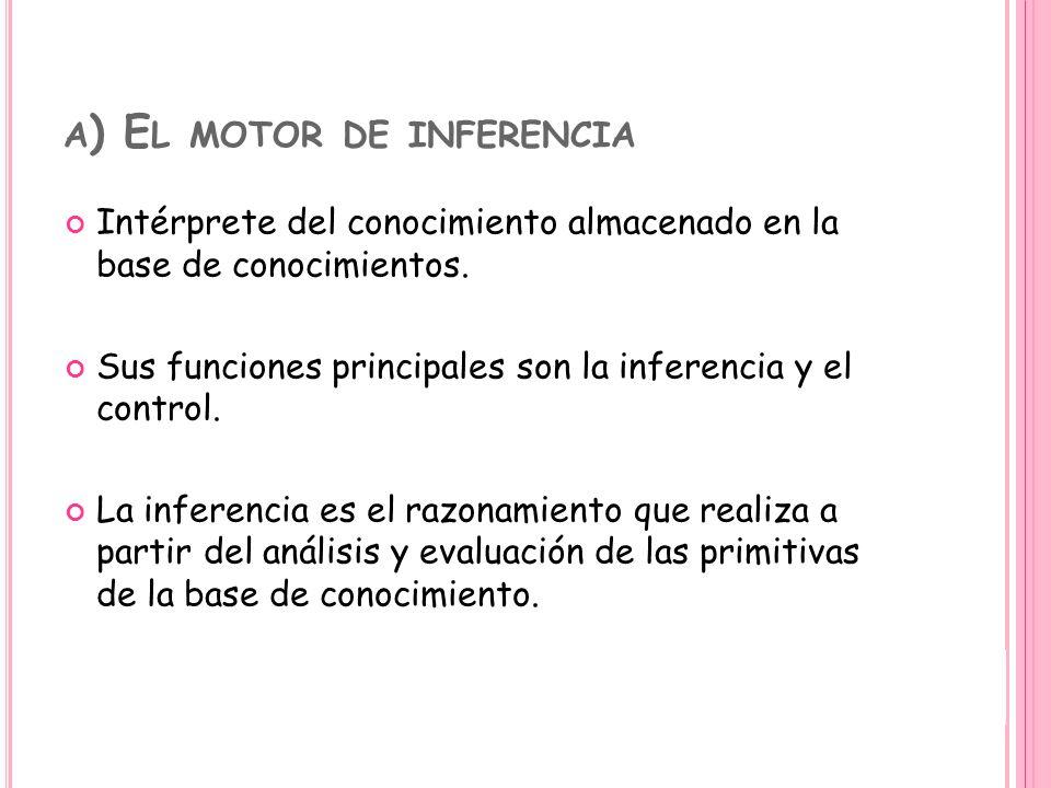 a) El motor de inferencia