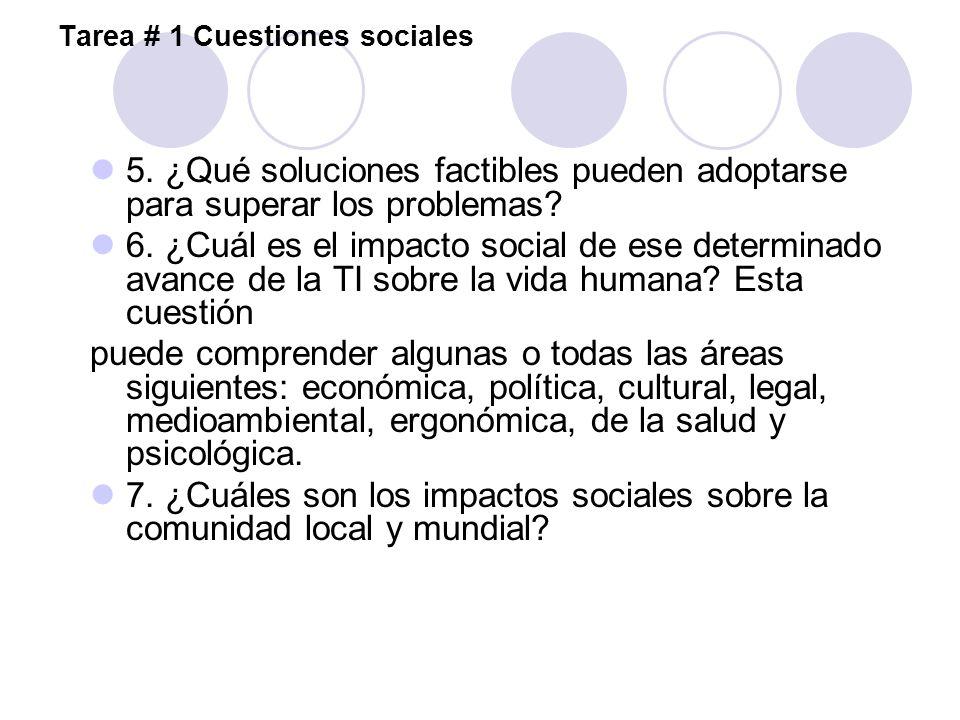 Tarea # 1 Cuestiones sociales