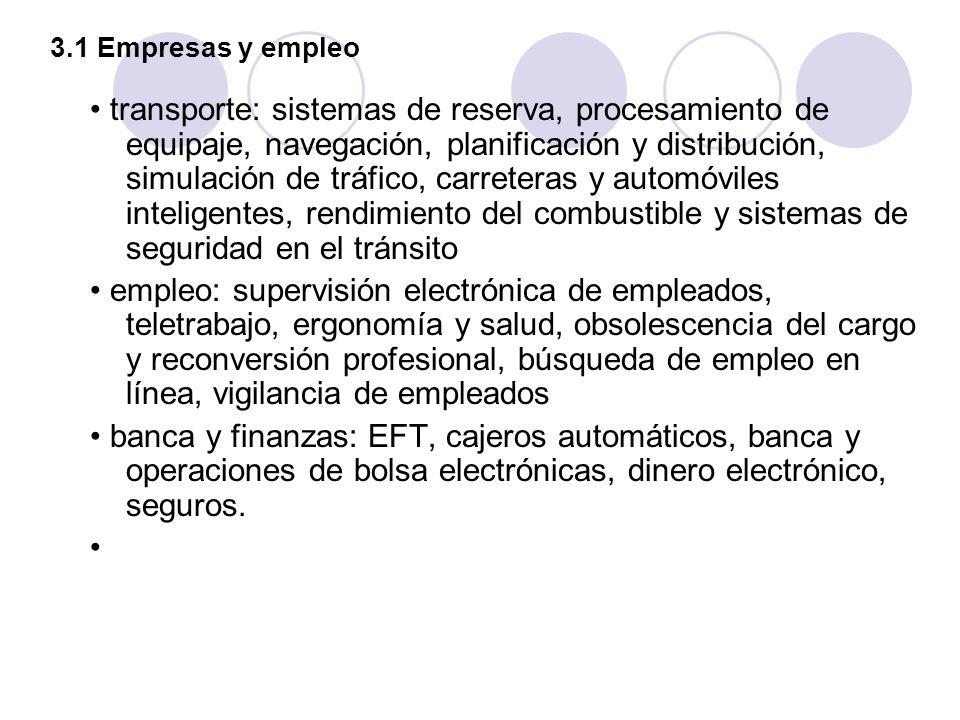 3.1 Empresas y empleo