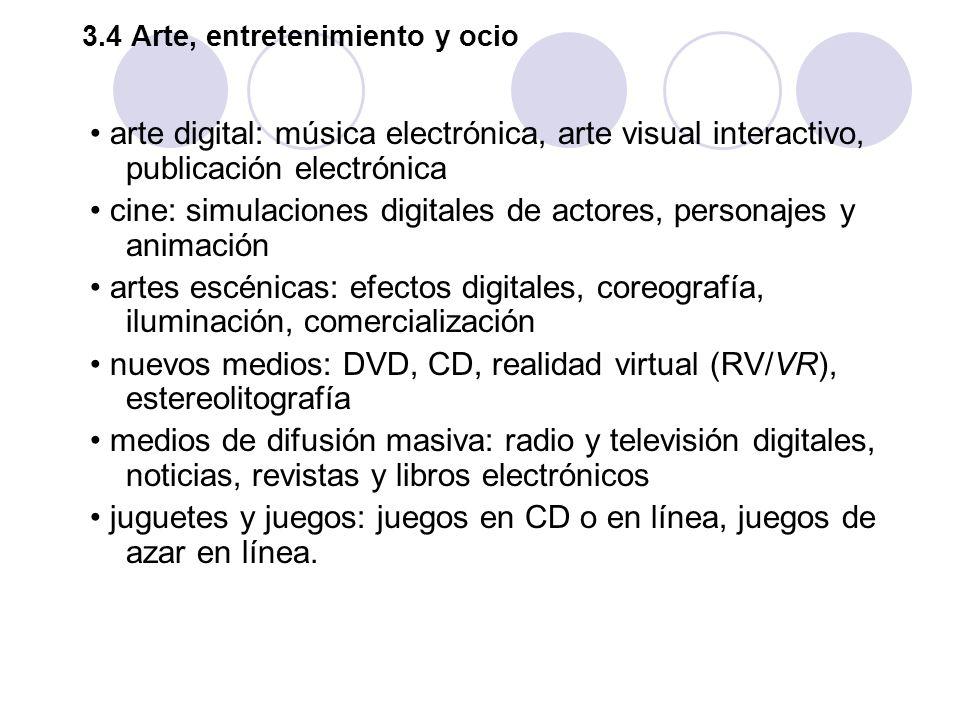 3.4 Arte, entretenimiento y ocio