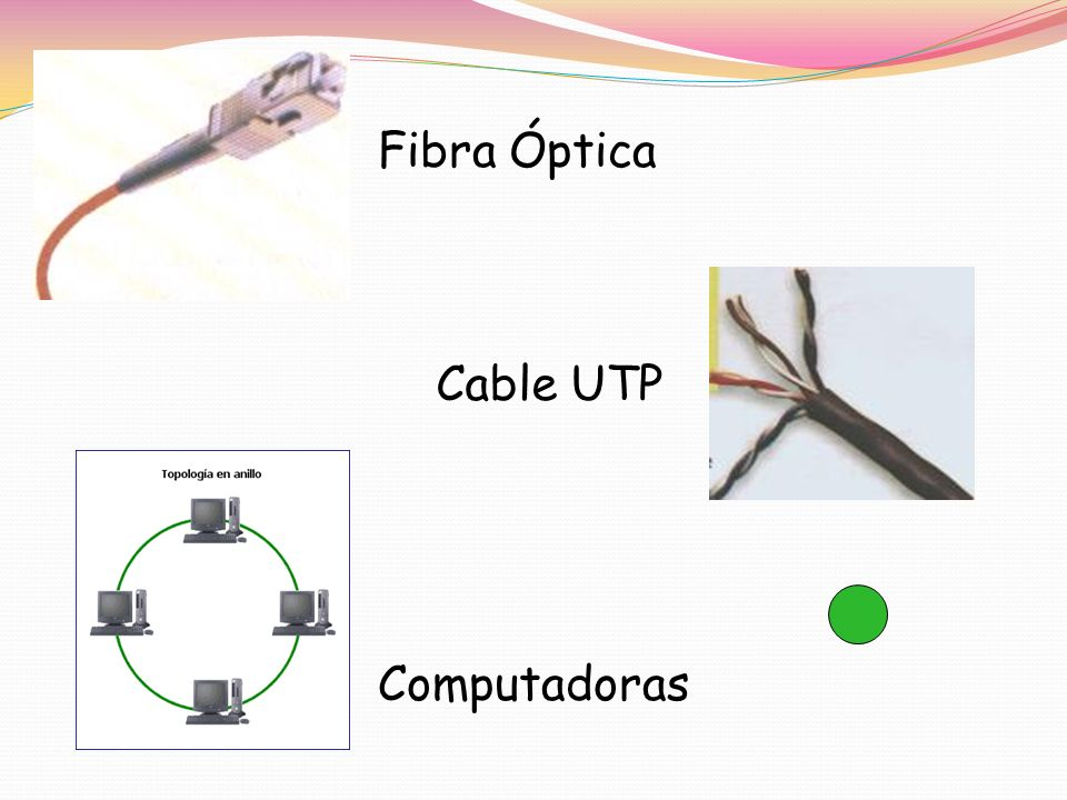 Fibra Óptica Cable UTP Computadoras