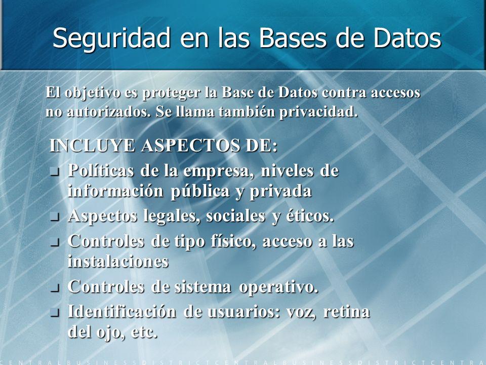 Seguridad en las Bases de Datos