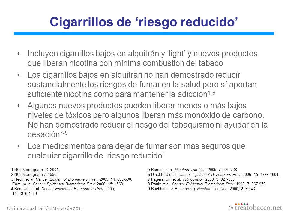 Cigarrillos de 'riesgo reducido'