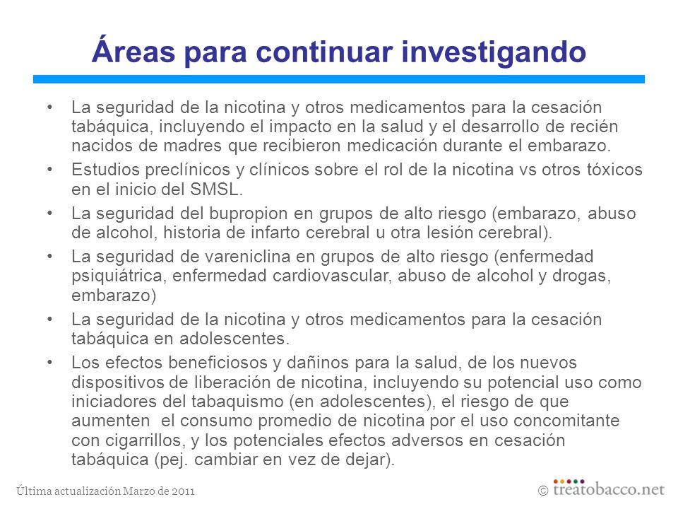 Áreas para continuar investigando