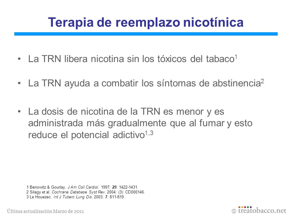 Terapia de reemplazo nicotínica
