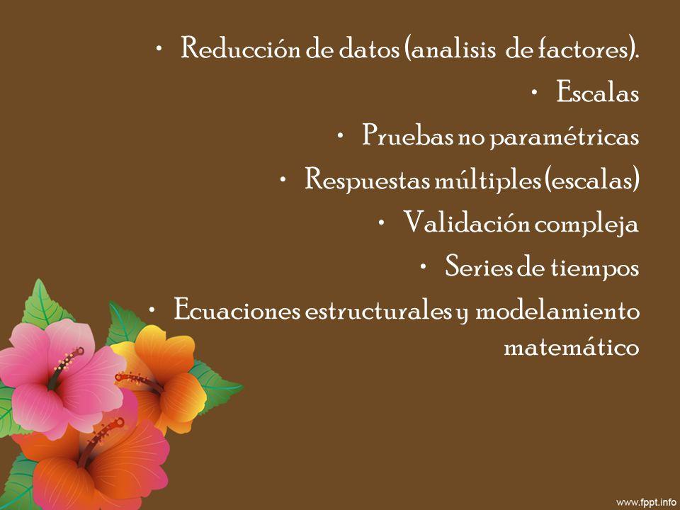 Reducción de datos (analisis de factores).