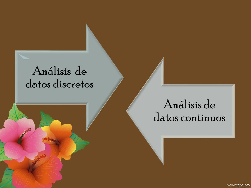 Análisis de datos discretos Análisis de datos continuos