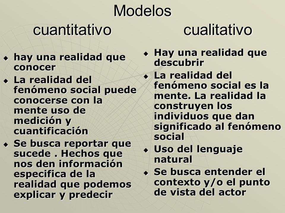 Modelos cuantitativo cualitativo