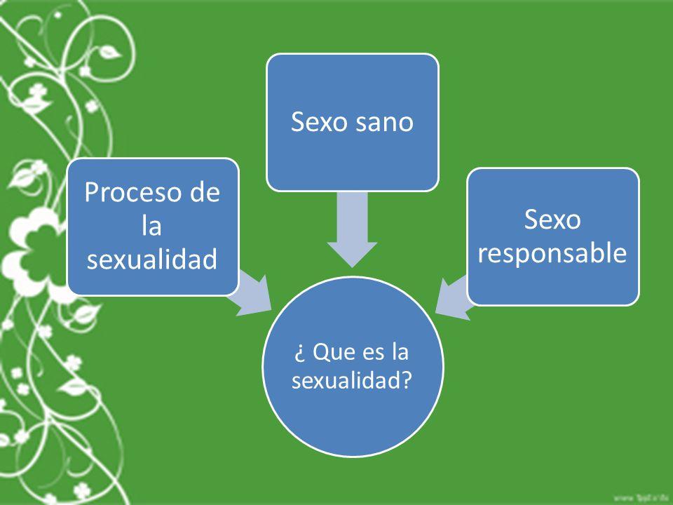 Proceso de la sexualidad