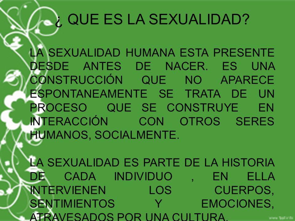 ¿ QUE ES LA SEXUALIDAD