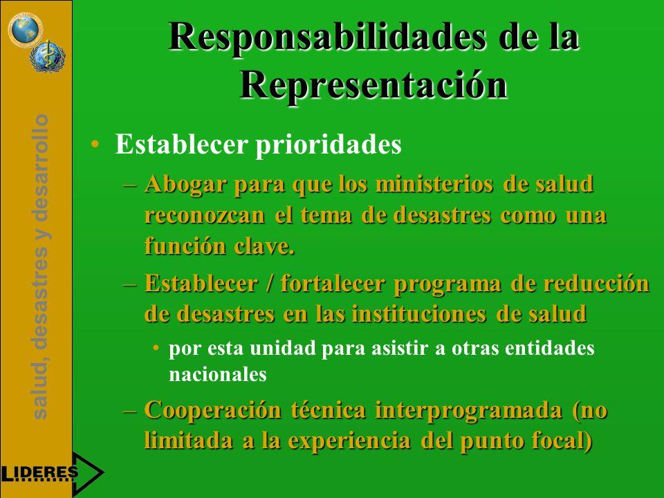 Responsabilidades de la Representación