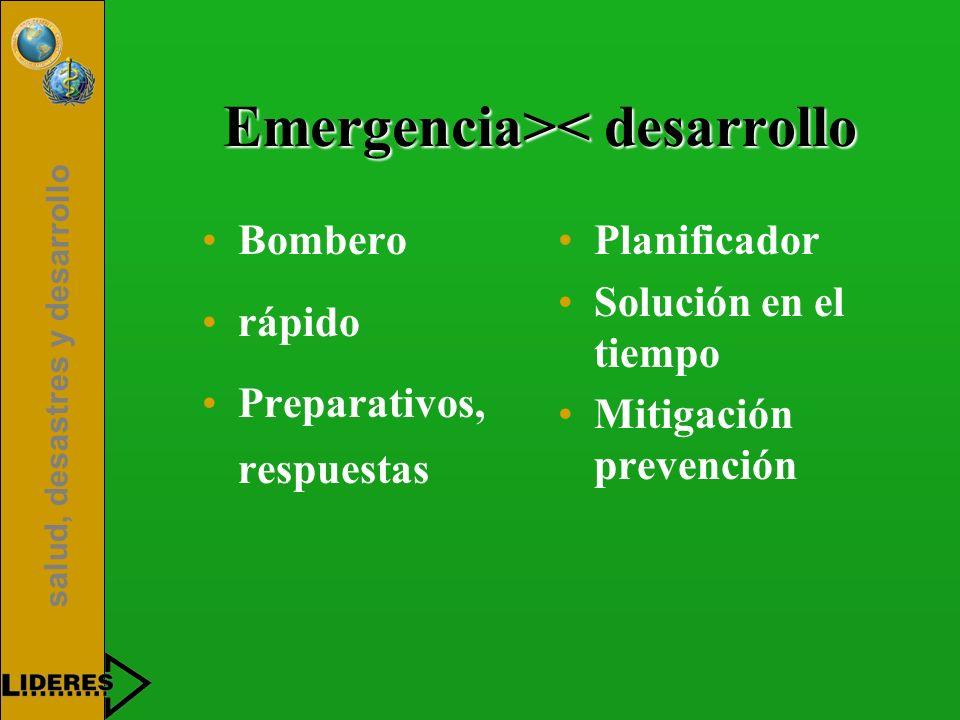 Emergencia>< desarrollo