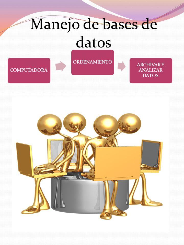 Manejo de bases de datos