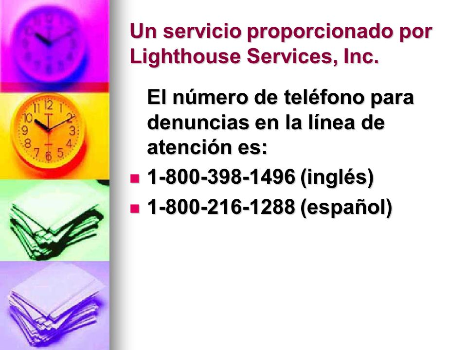 Un servicio proporcionado por Lighthouse Services, Inc.
