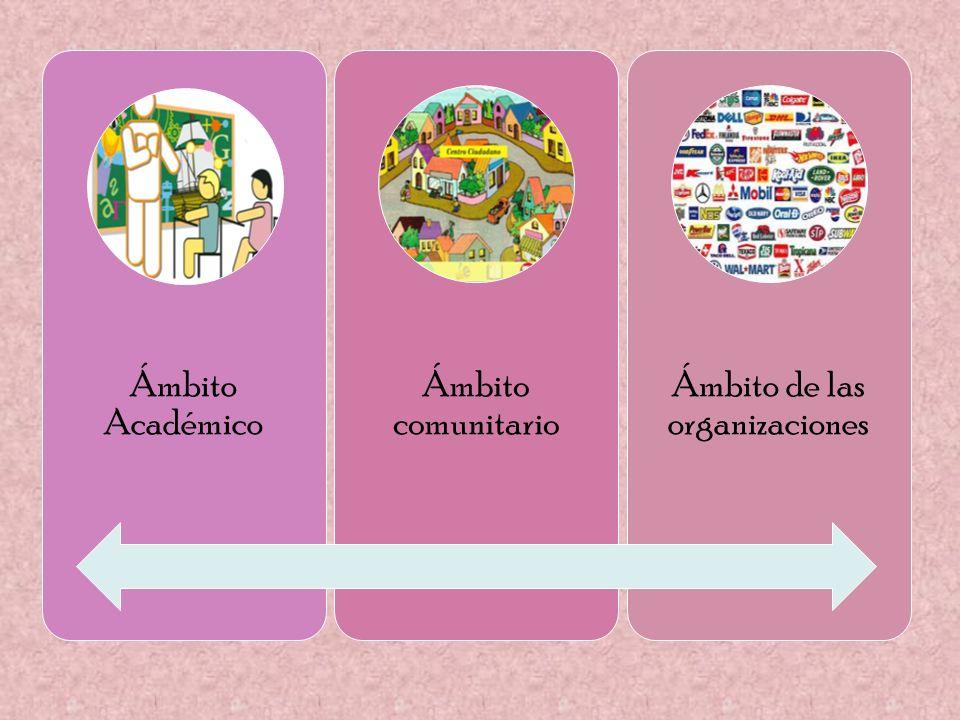Ámbito de las organizaciones