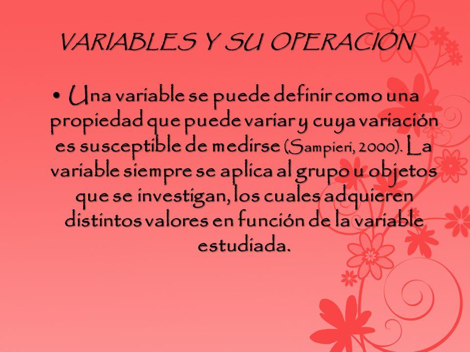 VARIABLES Y SU OPERACIÓN