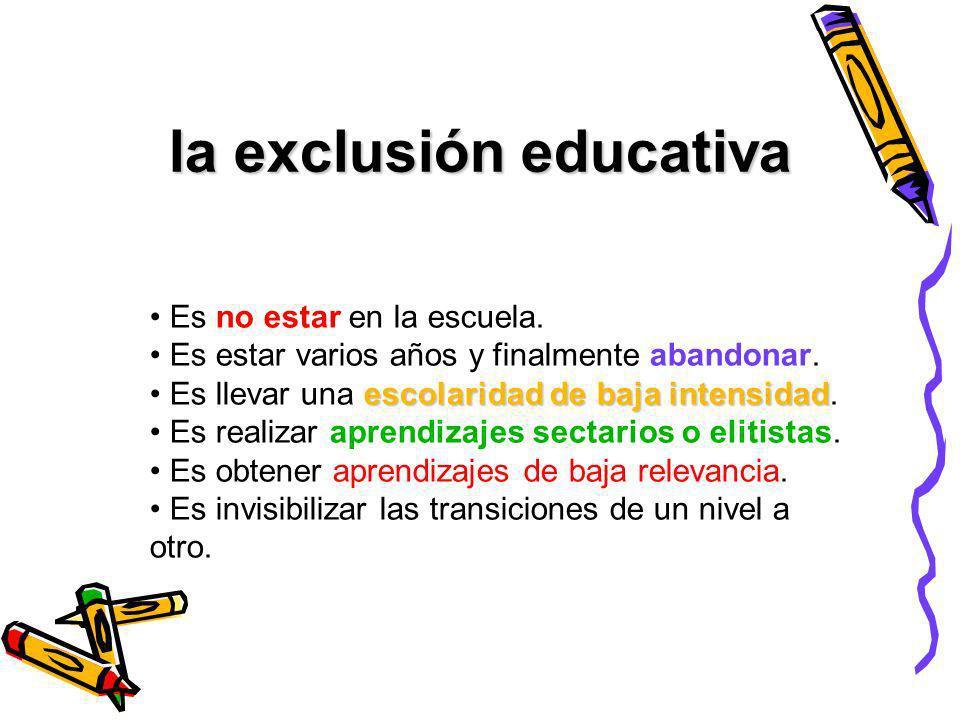 la exclusión educativa