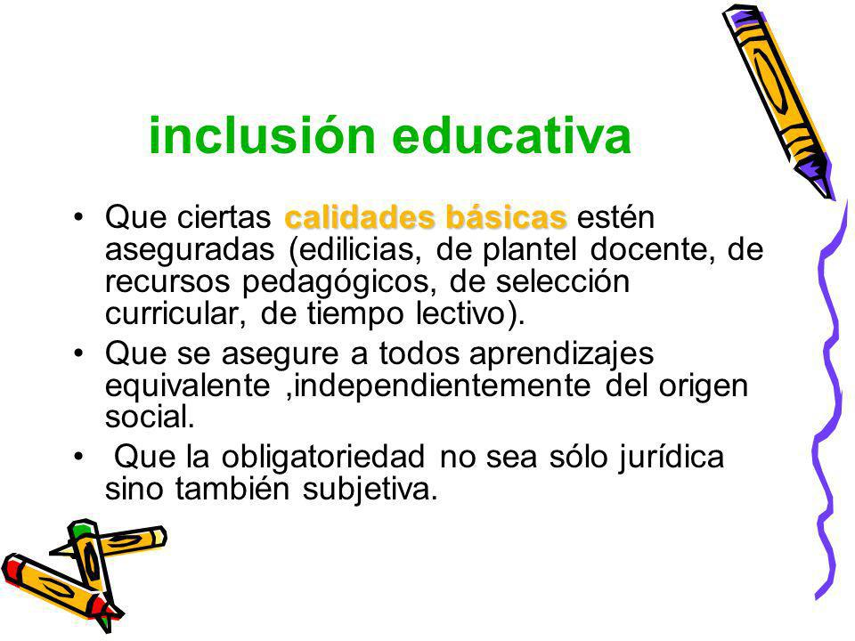 inclusión educativa