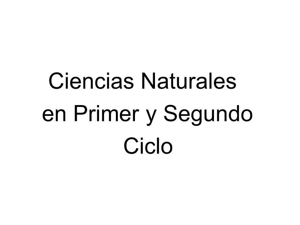 Ciencias Naturales en Primer y Segundo Ciclo