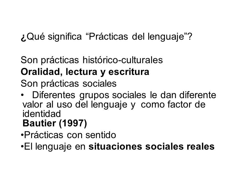¿Qué significa Prácticas del lenguaje