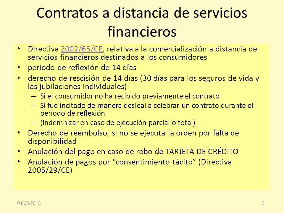 Contratos a distancia de servicios financieros