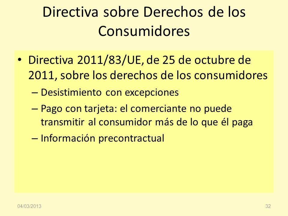 Directiva sobre Derechos de los Consumidores