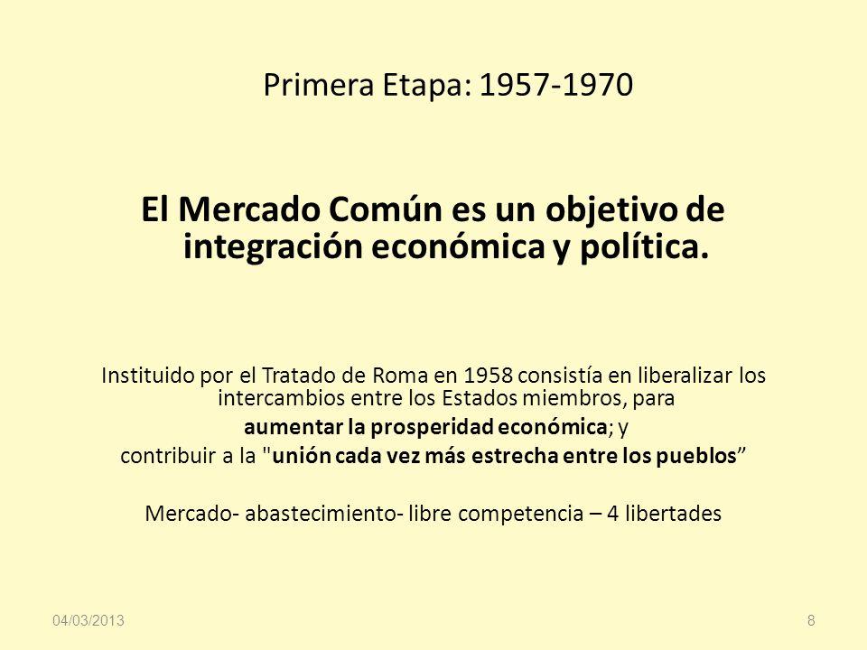 El Mercado Común es un objetivo de integración económica y política.