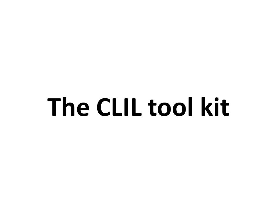 The CLIL tool kit