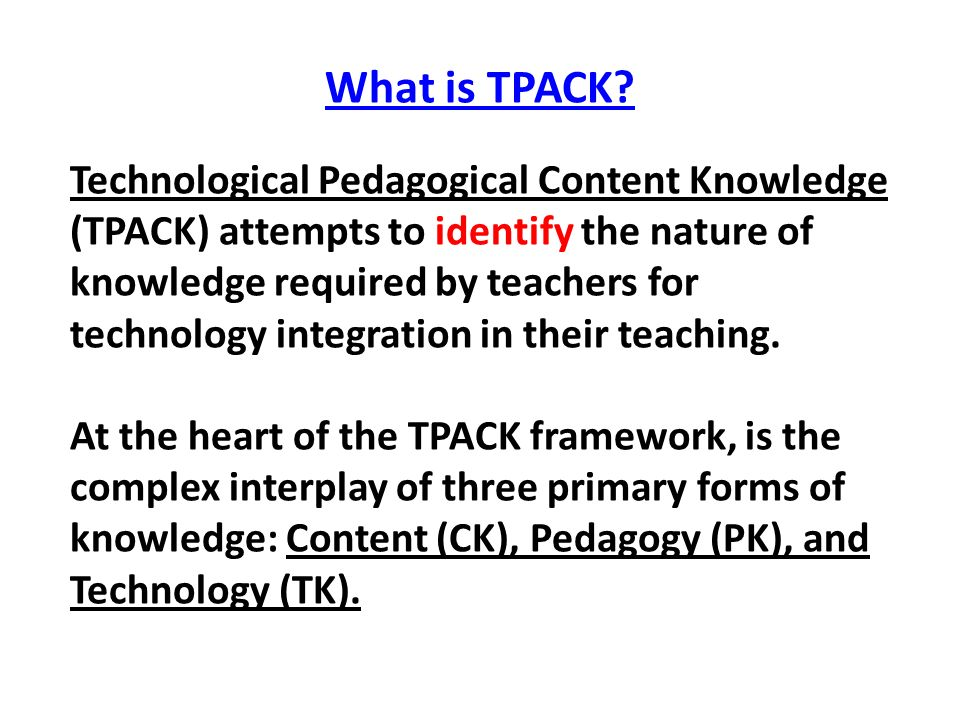 What is TPACK