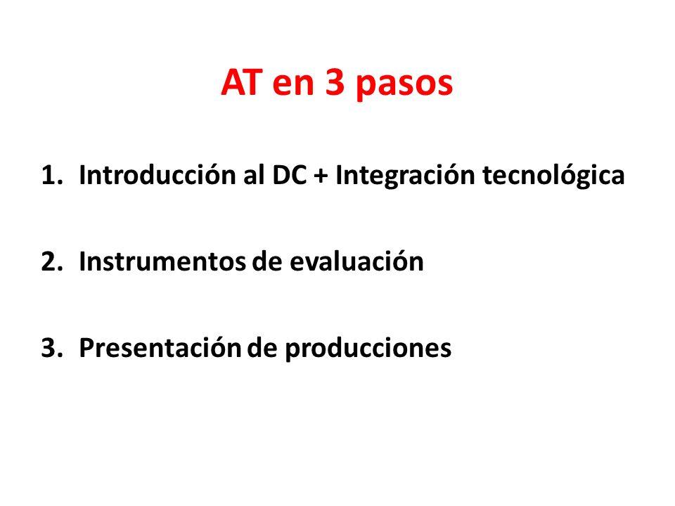 AT en 3 pasos Introducción al DC + Integración tecnológica
